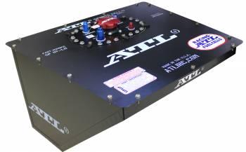ATL Racing Fuel Cells - ATL Black Widow Series Fuel Cell - Dirt Late Model / Modified - 16 Gallon - 21.25 x 24 x 15 - Black - FIA FT3