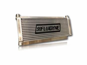 """Fluidyne Performance - Fluidyne Dirt Late Model Oil Cooler - 17.5"""" x 6"""" x 1-1/4"""" - 12 AN Inlet / 12 AN Outlet - Aluminum"""