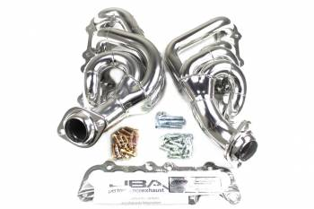 """JBA Performance Exhaust - JBA Cat4ward Shorty Style Headers - 1-3/4"""" Primary - 2-1/2"""" Collector - Stainless - Silver Ceramic - 5.0 L - Coyote - Ford Full-Size Truck 2011-17"""