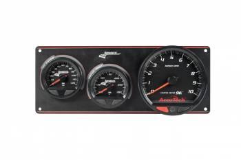 Longacre Racing Products - Longacre AccuTech Waterproof SMI 2 Gauge Panel w/Tach OP/WT