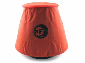 """aFe Power - aFe Power Air Filter Wrap Pre-Filter - 5 x 4"""" Conical - 4"""" Tall - Polyester - Red"""
