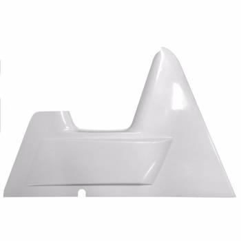 "Triple X Race Components - Triple X Arm Guard - X-Wedge - Left Side - Wedge Style - 2"" Taller - Fiberglass - White - Triple X Sprint Car"