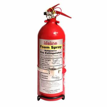 Lifeline USA - Lifeline Lifeline AFFF Hand Held Fire Extinguisher - Dry Chemical - Class AB - 1.0 L - Mounting Bracket - Steel - Red