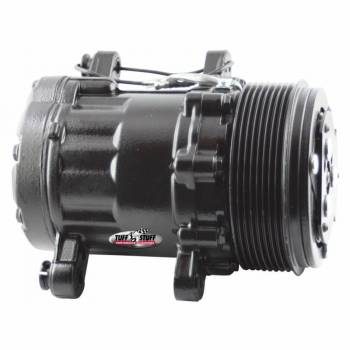 Tuff-Stuff Performance - Tuff-Stuff Air Conditioning Compressor - Peanut Style - R-134A - 8 Rib Serpentine Pulley - Black - Universal - Each