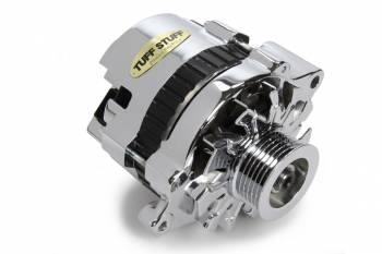 Tuff-Stuff Performance - Tuff-Stuff Mini Racer Alternator - 120 amp - 12V - 1-Wire - 6 Groove Serpentine Pulley - Chrome - GM