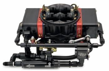 Willy's Carburetors - Willy's Equalizer Super Bowl Carburetor - 4-Barrel - 750 CFM - Square Bore - No Choke - Mechanical Secondary - Dual Inlet - Black Powder Coat - Gas