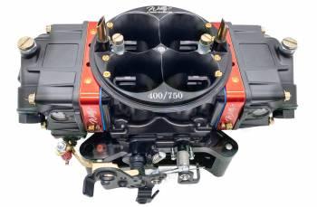 Willy's Carburetors - Willy's Equalizer Carburetor - 4-Barrel - 750 CFM - Square Bore - No Choke - Mechanical Secondary - Dual Inlet - Black Powder Coat - Gas
