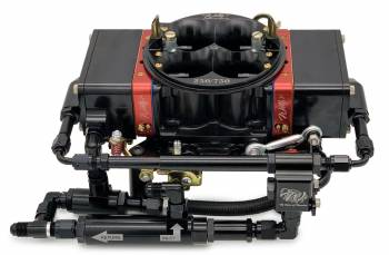 Willy's Carburetors - Willy's Equalizer Super Bowl Carburetor - 4-Barrel - 750 CFM - Square Bore - No Choke - Mechanical Secondary - Dual Inlet - Black Powder Coat - Gas