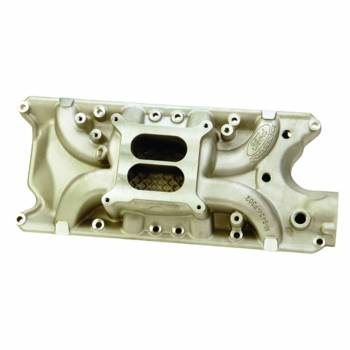 Ford Racing - Ford Racing Intake Manifold - 289/302 - Square Bore - Dual Plane - Aluminum - Natural - Small Block Ford