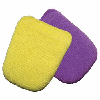 Wizard Products - Wizards Polish Microfiber Applicator Pad - Purple/Yellow (Pair)