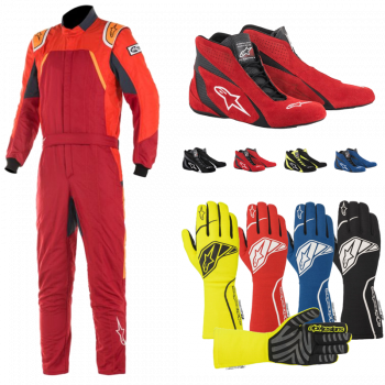 Alpinestars - Alpinestars GP Pro Comp Suit Package - Scarlet/Red/Orange Fluo