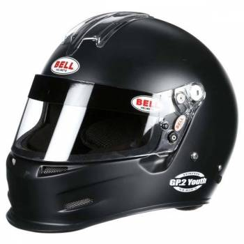 Bell Helmets - Bell GP.2 Youth Helmet - Matte Black - 3XS (52-53) SFI24.1