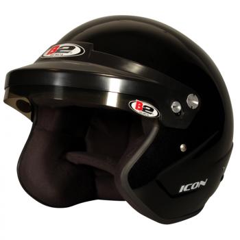 B2 Helmets - B2 Icon Helmet - Metallic Black - Medium