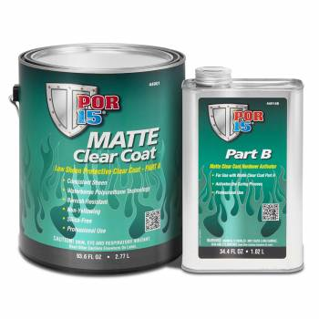 POR-15 - POR-15 Clear Coat - Activator Included - Urethane - Matte Clear - 1 Gallon Can