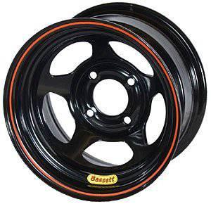 "Bassett Racing Wheels - Bassett Racing Wheels 13x8 4x4.25"" 5"" BS Black"