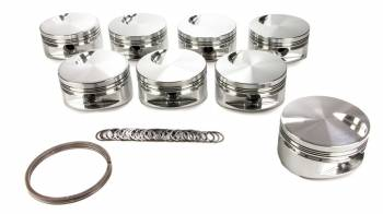 """JE Pistons - JE Pistons BB Flat Top Forged Piston Set - 4.500"""" Bore - 1/16 x 1/16 x 3/16"""" Ring Grooves - Minus 3.0 cc - BB Chevy (Set of 8)"""