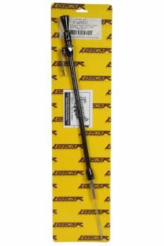 Lokar - Lokar Anchor-Tight Locking Oil Dipstick - Press-In - Passenger Side - Block Mount - Braided Stainless - Stainless - Black - GM LS-Series