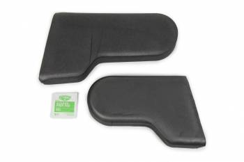 Ultra Shield Race Products - Ultra Shield Head Rest Halo Pads - Foam - Black - Fits Ultra Shield Halo Seats (Pair)