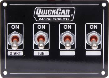 QuickCar Racing Products - QuickCar Extreme Ignition Panel w/ Starter Switch