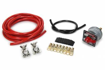 QuickCar Racing Products - QuickCar Battery Cable Kit w/ Master Disconnect Switch - 4 Gauge Cable