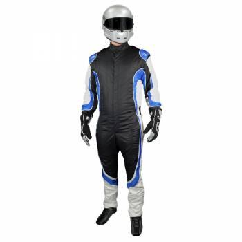 K1 RaceGear - K1 RaceGear Champ Suit -SFI/FIA - Black/Blue - Large/X-Large (58)