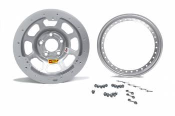 "Aero Race Wheel - Aero 33 Series Beadlock Wheel - Silver - 13"" x 8"" - 2"" BS - 4 x 4.50"" - 21 lbs."
