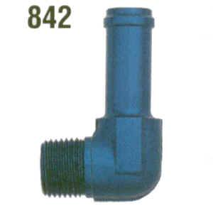 "XRP - XRP 90° 1/4"" NPT Pipe to -06 AN Tube Adapter, 11/32"" - 3/8"" Hose I.D."