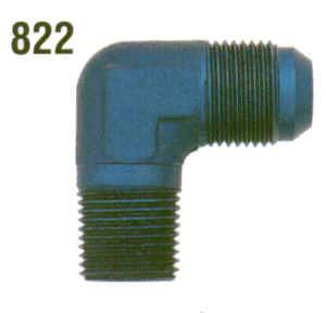 "XRP - XRP 90° -06 AN Male to 1/4"" NPT Adapter"