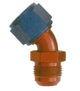 XRP - XRP 45° -06 AN Female Swivel to Male AN