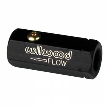 "Wilwood Engineering - Wilwood Check Valve-Self Bleeder - Black - Aluminum - 1/8"" Female to 1/8"" Female"