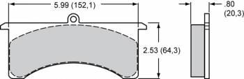 "Wilwood Engineering - Wilwood Polymatrix ""B"" Compound Brake Pads - GN"