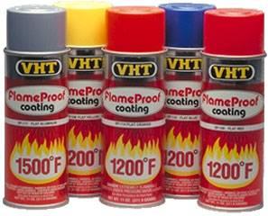 VHT - VHT Flame Proof Coating - Flat Black - 11 oz. Aerosol Can