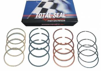"""Total Seal - Total Seal TS1 File-Fit Gapless Piston Ring Set - 4.170"""" Ring Size, 1/16"""" Top Ring - 1/16"""" 2nd Ring - 3/16"""" Gold Power Low-Tension Oil Ring"""