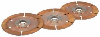 """Tilton Engineering - Tilton 7.25"""" Metallic OT-II Racing Disc Pack - 3 Discs - 1-1/8"""" x 10 Spline Standard"""