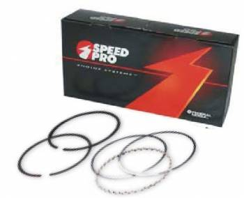 "Speed Pro - Speed-Pro File Fit Plasma Moly Piston Ring Set - 4.125"" Bore (+.065"") - Top Ring: 1/16"", 2nd Ring: 1/16"", Oil Ring: 3/16"", Oil Tension Ring: Standard"