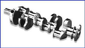 Scat Enterprises - Scat Stock Replacement Cast Steel Crankshaft - SB Chevy 350, Early Model w/ 2 Pc. Rear Seal