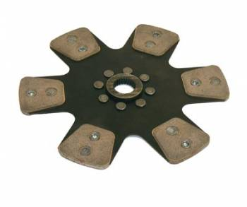 "Ram Automotive - RAM Automotive Street Stock 10.5"" Six Paddle Solid Hub Disc - 1-1/8"" x 10 Spline"