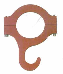 "QuickCar Racing Products - QuickCar Helmet Hook 1.75"" Roll Bar - Red"