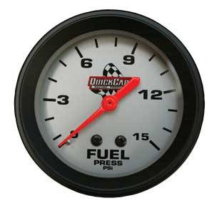 QuickCar Racing Products - QuickCar Fuel Pressure Gauge - 0-15 PSI