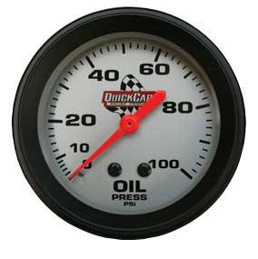 QuickCar Racing Products - QuickCar Oil Pressure Gauge - 0-100 PSI