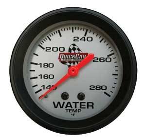 QuickCar Racing Products - QuickCar Water Temp Gauge - 140-280° F.