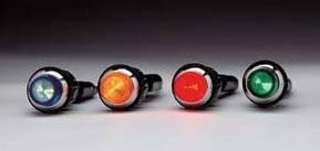 "QuickCar Racing Products - QuickCar Warning Light - 3/4"" - Amber"