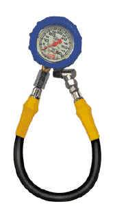 QuickCar Racing Products - QuickCar 0-60 PSI Glow-In-The-Dark Tire Pressure Gauge