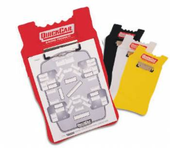 QuickCar Racing Products - QuickCar Acrylic Clipboard - Red