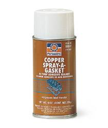 Permatex - Permatex® Copper Spray-A-Gasket® Hi Temp Adhesive Sealant - 12 oz. Aerosol Can, 9 oz. Net Wt.