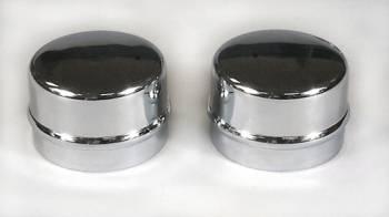 """Mr. Gasket - Mr. Gasket Chrome Spindle Dust Cap - Fits 1955-80 Ford 1.790"""" O.D. Hubs , 1961-70 GM Hubs"""