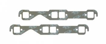 "Mr. Gasket - Mr. Gasket Ultra Seal Exhaust Manifold Gaskets - SB Chevy - Stock Square Port - Exhaust Port Width: 1.45"" , Exhaust Port Height: 1.48"" , Center Port to Gasket Top: .78"""