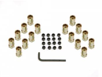 "Mr. Gasket - Mr. Gasket Sure-Lock Rocker Arm Nuts - For Stock Rocker Arms - Fits SB Chevy 283-400 , Pontiac V-8 , Ford 289/302/351 - Gold Tone Finished Nuts Have 3/8"" Stud and .603"" Shank O.D."