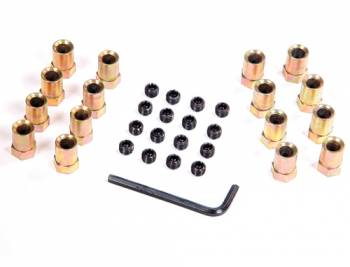 "Mr. Gasket - Mr. Gasket Sure-Lock Rocker Arm Nuts - For Aluminum Rocker Arms - Fits SB Chevy 283-400 , Pontiac V-8 , Ford 289/302/351 (Except 351C) - Gold Tone Finished Nuts Have 3/8"" Stud and .540"" Shank O.D."