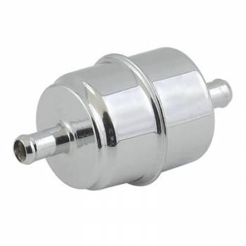 """Mr. Gasket - Mr. Gasket Chrome Plated Canister Fuel Filter - Fits 3/8"""" Hose"""